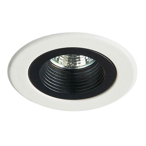 Dainolite White Mini Down Light Trim with Black Baffle
