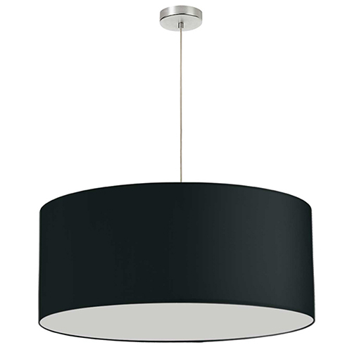 Black 28-Inch One-Light Pendant