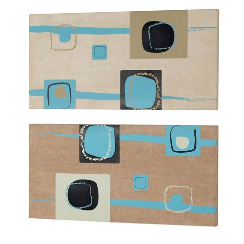 Square Prints on Silk Fabric Wall Art