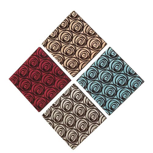 Blooming Rose Suede on Silk Fabric Wall Art