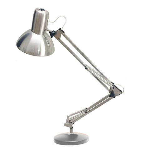 Satin Chrome 8-Inch LED Desk Lamp