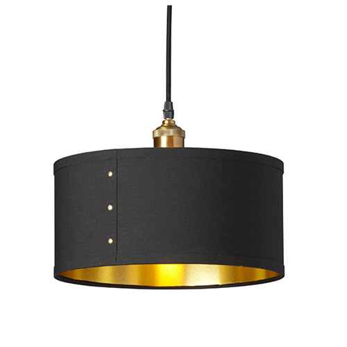 Fayette Black and Gold 12-Inch One-Light Pendant