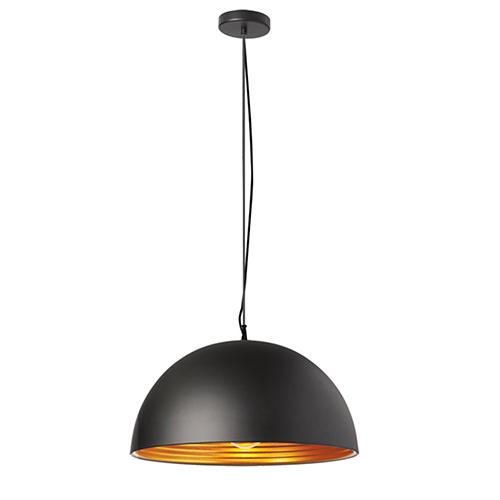 Dainolite Helsinki Matte Black 20-Inch One-Light Pendant