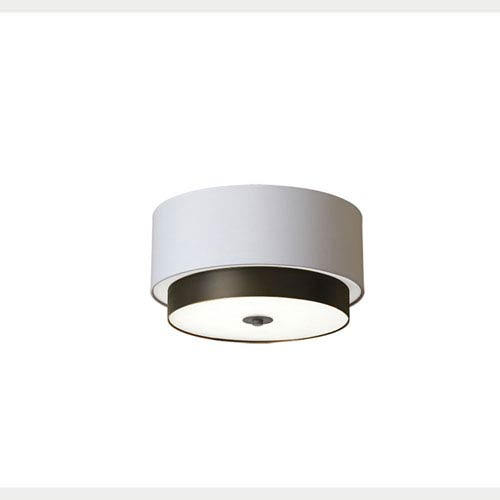 Larkin White Three-Light 14-Inch Flush Mount