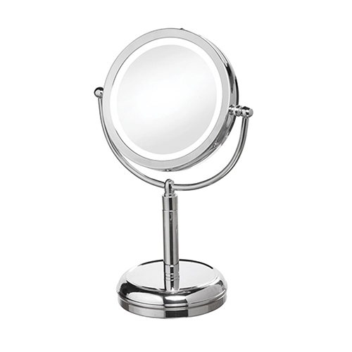 Magnifier Mirrors Polished Chrome 10-Inch LED Specialty Lamp
