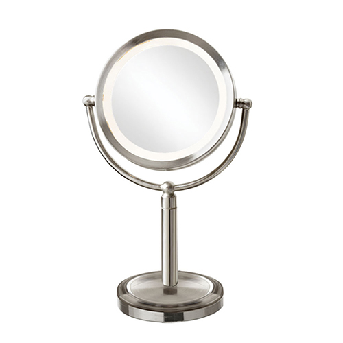Magnifier Mirrors Satin Chrome 10-Inch LED Specialty Lamp