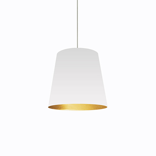 Oversized Drum White and Gold 20-Inch One-Light Pendant