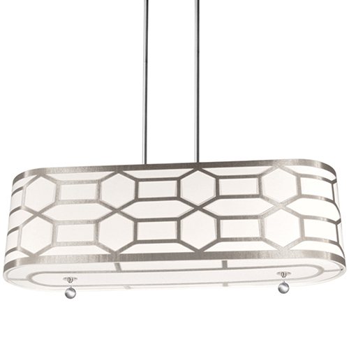 Pembroke Winter Gold 34-Inch Four-Light Pendant