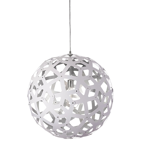 Talini White and Silver 22-Inch One-Light Pendant
