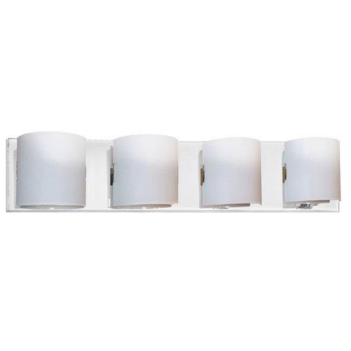 Dainolite Polished Chrome Four-Light Bath Fixture