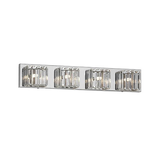 Clear 26-Inch Four-Light Vanity