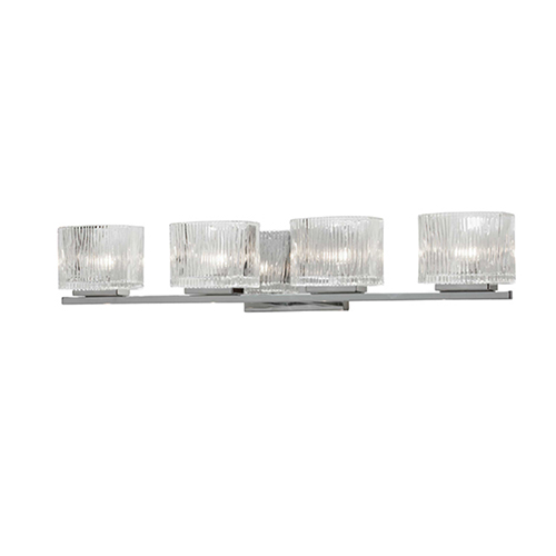 Dainolite Polished Chrome 28-Inch Four-Light Vanity