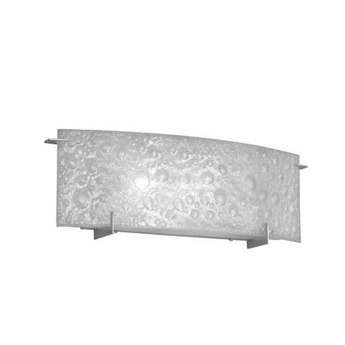 Dainolite Satin Chrome One-Light Vanity Fixture with Frosted Bubble Glass