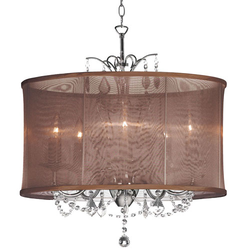 Dainolite Polished Chrome Four-Light Pendant
