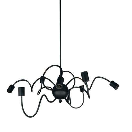 Dainolite Waitsfield Matte Black 32-Inch Eight-Light Pendant