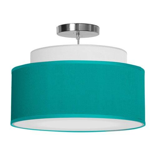 Abba Silk Turquoise 16-Inch One-Light Pendant