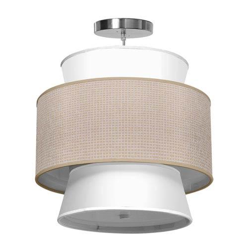 Arlo Woven Crosshatch 16-Inch One-Light Pendant