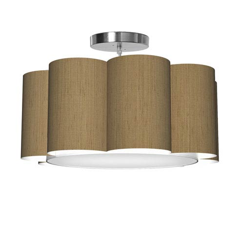 Bloom 8 Woven Bamboo 21.5-Inch One-Light Pendant