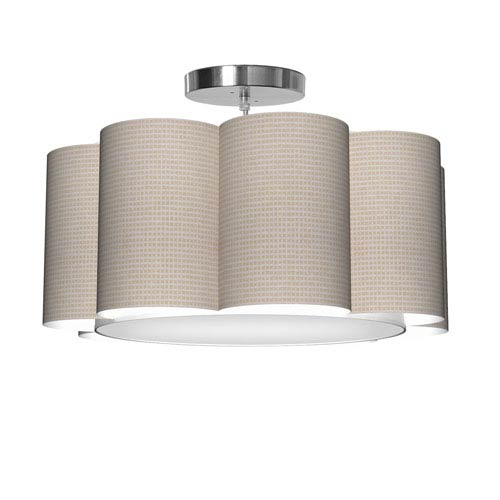 Bloom 8 Woven Crosshatch 21.5-Inch One-Light Pendant