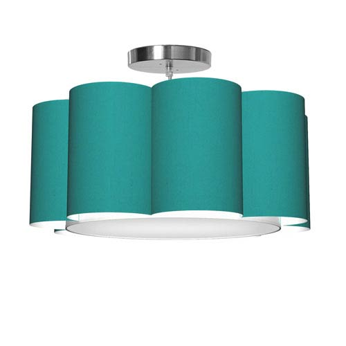 Bloom 8 Silk Turquoise 21.5-Inch One-Light Pendant