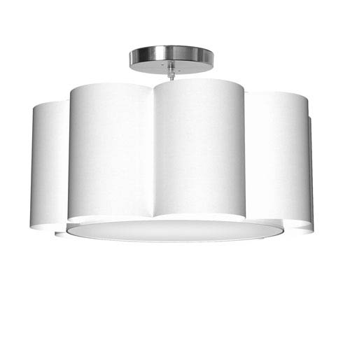 Bloom 8 Silk White 21.5-Inch One-Light Pendant