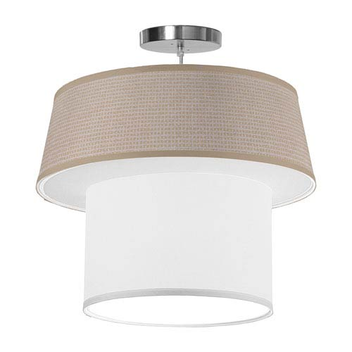 Clive Woven Crosshatch 18-Inch One-Light Pendant