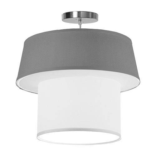 Clive Silk Gunmetal 18-Inch One-Light Pendant