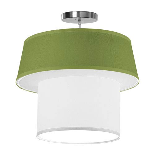 Clive Silk Verde 18-Inch One-Light Pendant