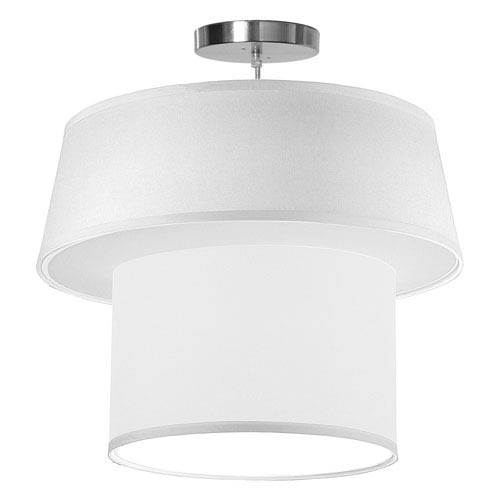 Clive Silk White 18-Inch One-Light Pendant
