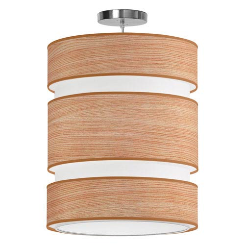 Lena Natural Veneer 16-Inch Two-Light Pendant