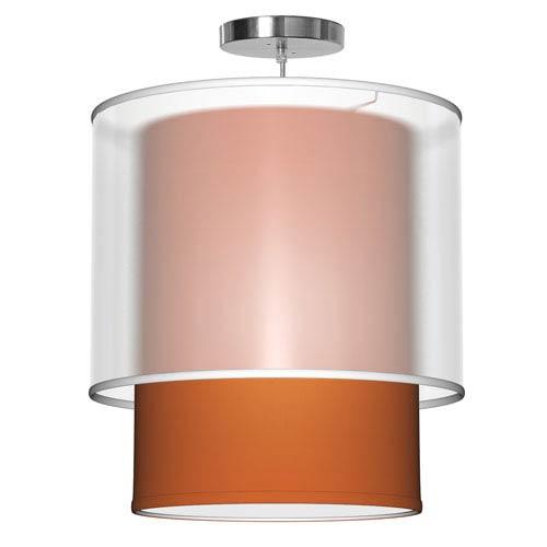 Lumiere Silk Orange 16-Inch One-Light Pendant