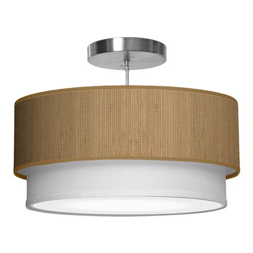 Luther Woven Bamboo 16-Inch One-Light Pendant
