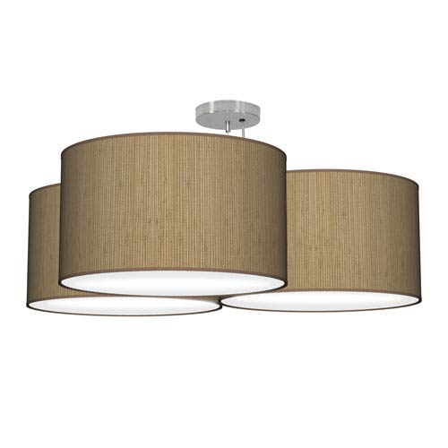 Tryptic Woven Bamboo 32-Inch Three-Light Pendant