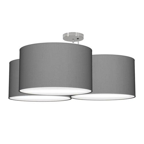 Tryptic Silk Gunmetal 32-Inch Three-Light Pendant