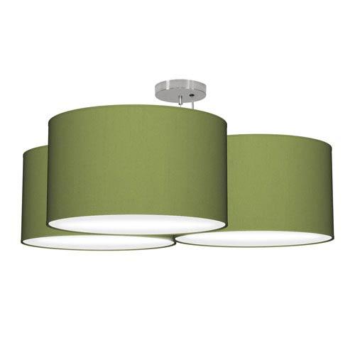 Tryptic Silk Verde 32-Inch Three-Light Pendant