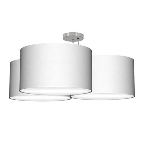 Tryptic Silk White 32-Inch Three-Light Pendant