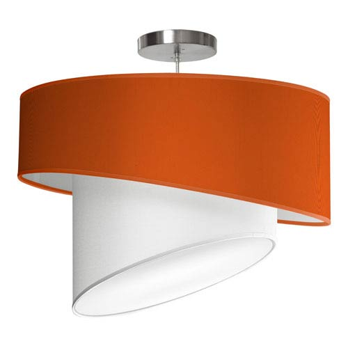 Twist Silk Orange 18-Inch One-Light Pendant