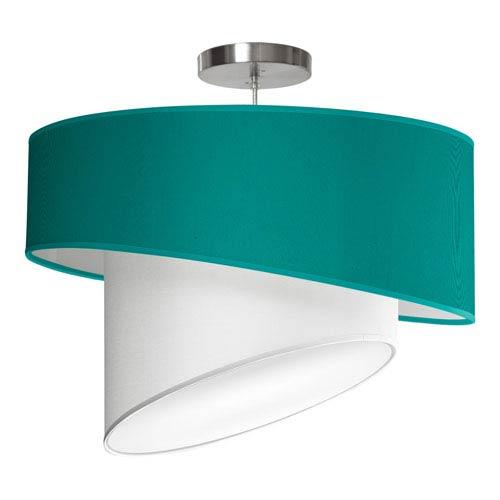 Twist Silk Turquoise 18-Inch One-Light Pendant