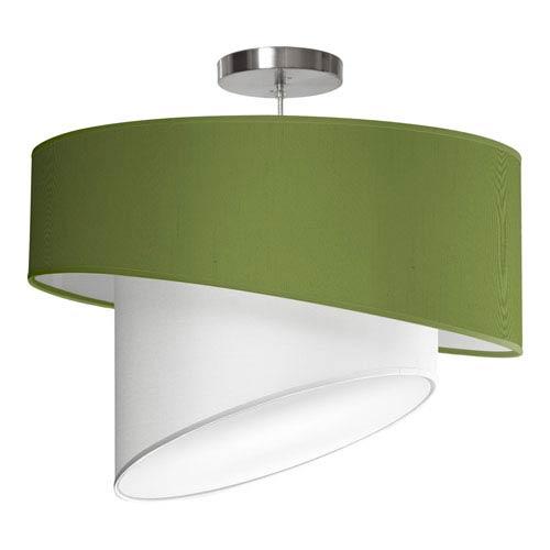 Twist Silk Verde 18-Inch One-Light Pendant
