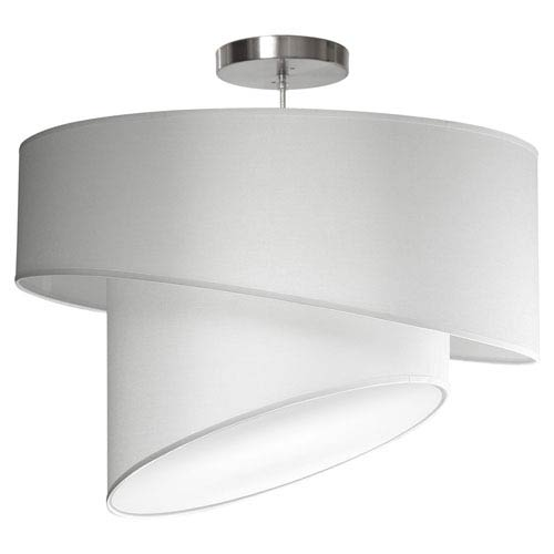 Twist Silk White 18-Inch One-Light Pendant