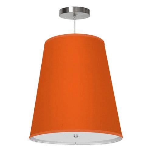 Zak Silk Orange 13-Inch One-Light Pendant