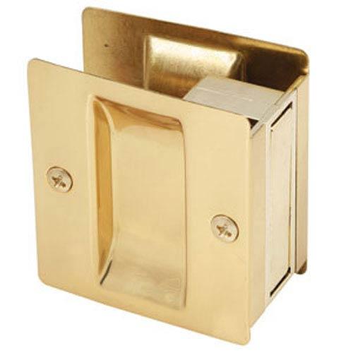 Polished Brass Rectangular Pocket Door Passage