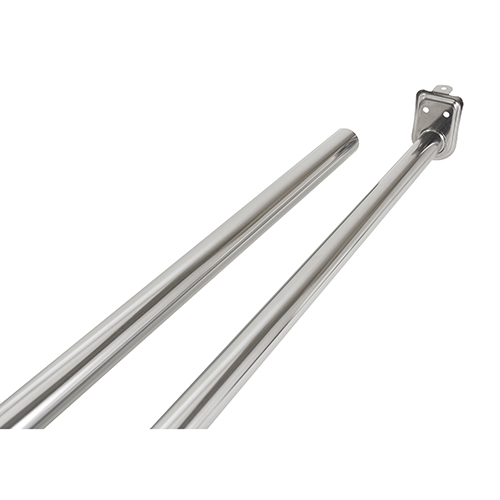 Adjustable Closet Rod 96 Inches- 150 Inches, Polished Chrome