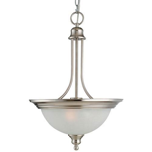 Bristol Satin Nickel Two-Light Pendant