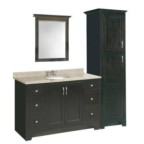Design House Ventura 60 Inch Espresso Vanity Cabinet