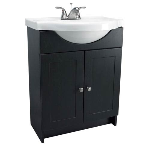 Design House Vanity Combo 24Inch Espresso Cabinet With Solid White  Marble Belly 24 In Vanity Combo A25