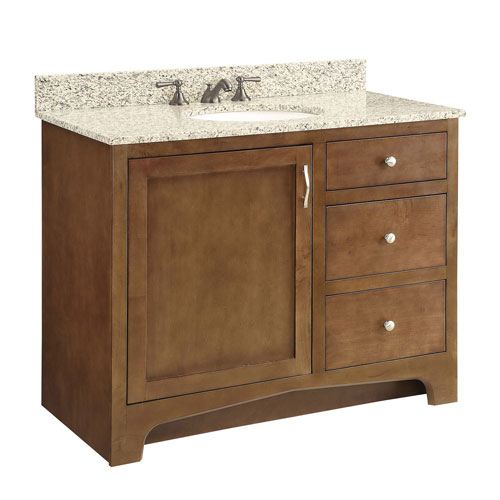 1-Door 2-Drawer Vanity, Maple