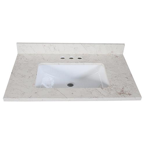 Quartz Vanity Top 37x22, Giallo