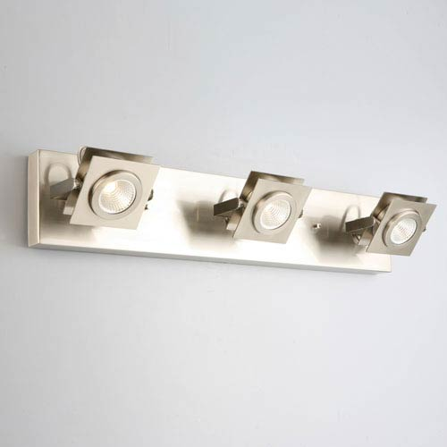 Design House Otero 3-Light Direct Track Ceiling or Wall Light, Brushed Nickel