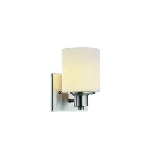 Dane 1-Light Wall Light, Satin Nickel